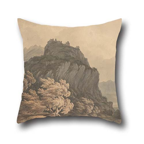16 X 16 Inch   40 By 40 Cm Oil Painting John Warwick Smith   The Val Daosta  Piedmont Cushion Cases  Double Sides Ornament And Gift To Father Valentine Study Room Boys Office Couch