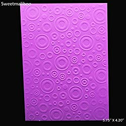 WANCHEN New Round Circle Dots Embossing Folder Plastic DIY Scrapbooking Stencils Paper Card Making Craft Envelop Album Gift Box Decor