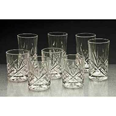 Godinger Set of 8  Dublin  Double Old-Fashioned and Highballs