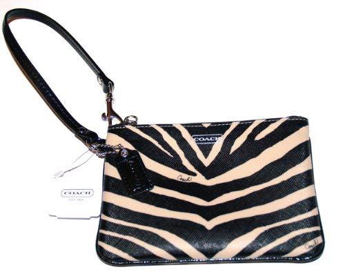 - Coach Zebra Print Small Wristlet 51099