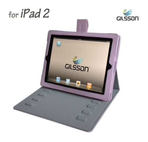 Apple iPad 2 PU Leather Multi-Angle Adjustable Stand / Carrying Case for Apple iPad 2: 3G Wifi 16GB 32GB 64GB made by Gilsson (Pink Color) SPECIAL INTRODUCTORY PROMO PRICE. Guaranteed The Best Case Stand for Your iPad 2!