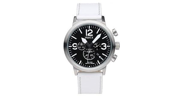 97a98f02c95a Watx vertical speed reloj para Hombre Analógico de Cuarzo con brazalete de  Piel de vaca RWA0225  Amazon.es  Relojes