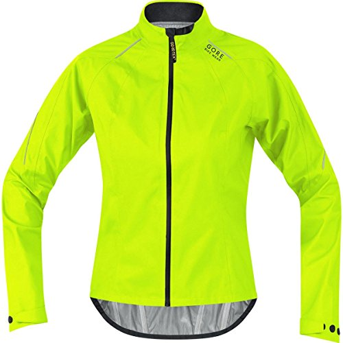 Gore Bike WEAR Women's Road Cycling Jacket, Light, Gore-TEX Active, Power Lady GT AS Jacket, Size 40, Neon Yellow/Black, JGPOWL