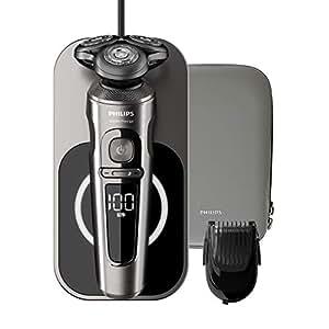 Philips SP9860/16 - Afeitadora (Máquina de afeitar de rotación, NanoTech precision blades, Excellent skin comfort system)
