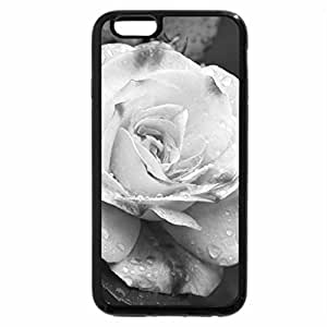 iPhone 6S Case, iPhone 6 Case (Black & White) - Pink Speckled Rose