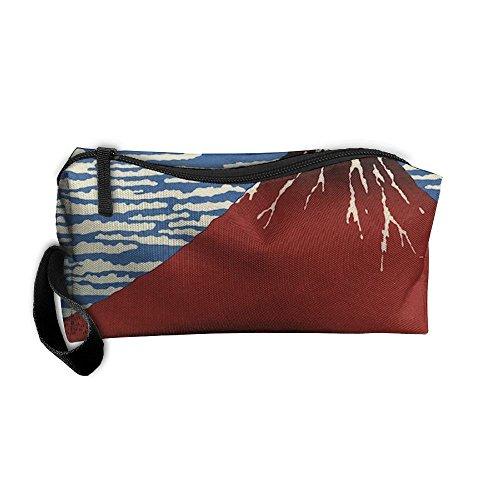 (EWSDa Red Fuji Mountain Cosmetic Bag Unisex Multifunctional Receiving Bag )