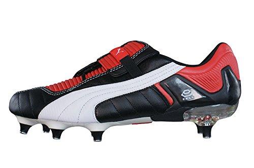Puma V Konstrukt III SG Mens Leder Fußballschuh / Cleats - schwarz & Rot