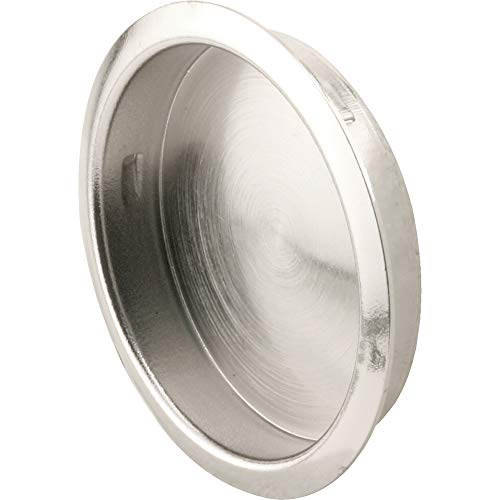 (Slide-Co 163506 Round Sliding Door Pull (2pk) - Stamped Steel with Chrome Finish - Fits 1-3/4