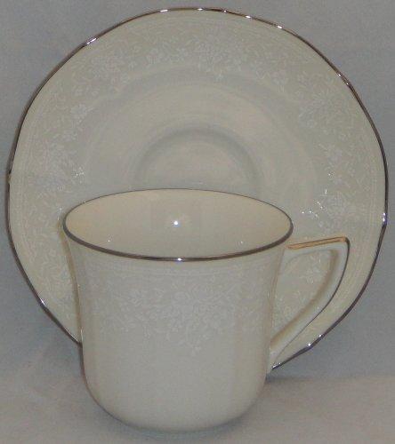 - Noritake Chandon Platinum Flat Cup & Saucer Set