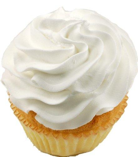 White Plain Fake Cupcake 3 Pack Fake (Discount Warehouse)