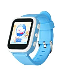 Felice Kids Kindergarteners Pre-schoolers Smartwatch Phone Children Anti-lost SOS Smart Watch with GPS Tracker (blue)