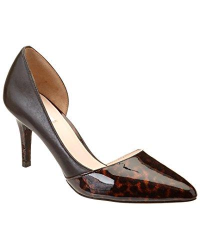 Cole Haan Womens Highline DOrsay Pump Brown/Tortoise/Black Patent