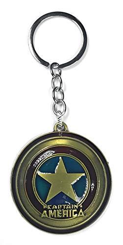 Delta Halo | Captain America Shield Keychain Keyring (Gold)