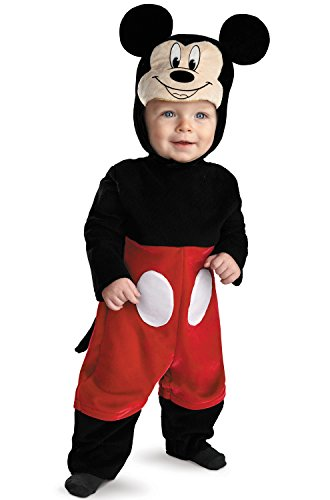 9 Month Old Baby Boy Halloween Costumes (Disguise My First Disney Mickey Costume, Black/Red/White, 6-12)