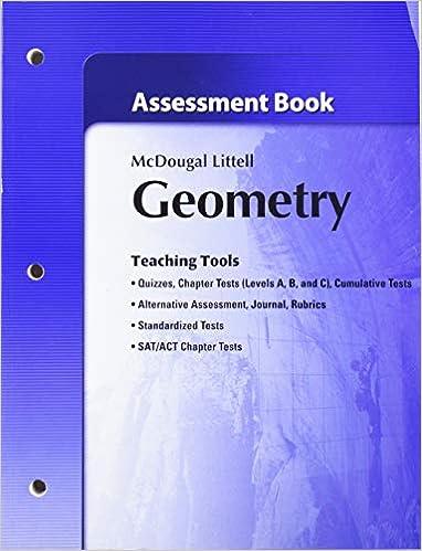 Geometry Assessment Book Holt McDougal Larson