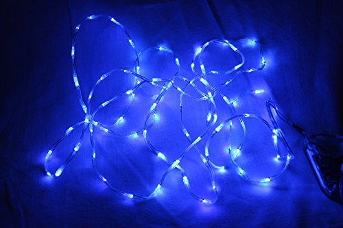 LED Kit for Clothes - DIY 60 LED kit, Make an LED Costume in minutes! (90 LED (6 feet), Blue)