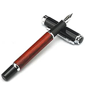 EastVita 8812 Fountain Pen Rose Wood Barrel Vintage Style