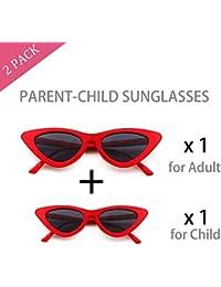 Vintage Cat Eye Sunglasses for Women and Girl Kids,...