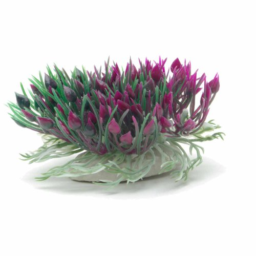 UPC 015561120876, Marina Betta Purple Hearts Shrub Aquarium Plastic Plant, 3-Inch