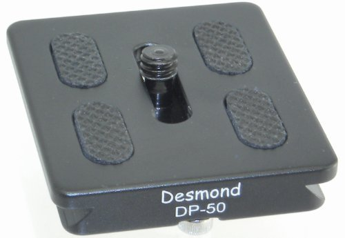 Desmond P-50 50mm QR Lens/Camera Body Plate Arca Compatible and D-Ring P50 DP-50