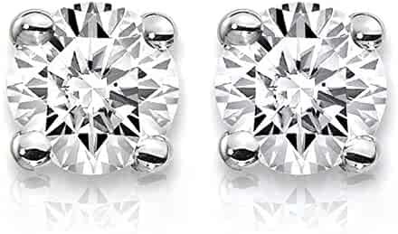 8ce176b84e46 3 4 Carat Lab Grown Diamond Stud Earrings (Certified D-F Color
