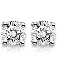 1 Carat Lab Grown Diamond Stud Earrings (Certified D-F Color, VS/SI Clarity) Set in 14k Gold