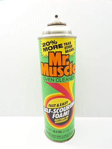 Mr. Muscle Oven Cleaner Spray Self-Scouring Foam 19.2 oz 50% Full 1984 Can Vintage ()