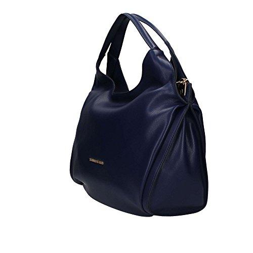 Trussardi Jeans 75B00333 Hobo tasche Damen blau UNICA
