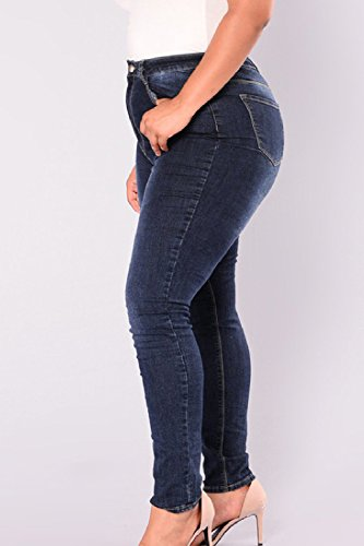 Le Fit Afflitto Alta Vita Taglia Slim Jeans Blu Donne Di 787x1wfq