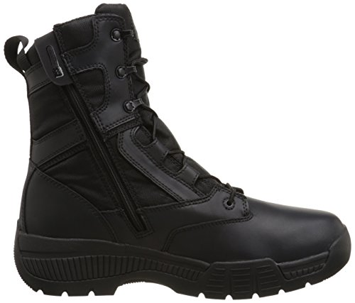 PRO Work Timberland Ballistic Black Soft Valor Boot Smooth Leather 8 Toe Side Men's Zip Nylon Inch qFCfd