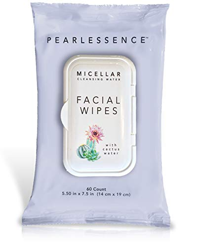 Mist Curtain - Micellar Cleansing Facial Makeup Remover Wipes w/ Cactus Water, 60 Count (1 Pack)