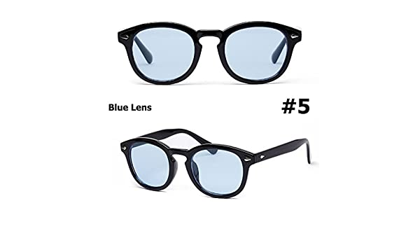 61233c412d1 AiSmarter(TM) Fashion Johnny Depp Round Style Tint Ocean Lens Sunglasses  Brand Design Party Show Sun Glasses  5