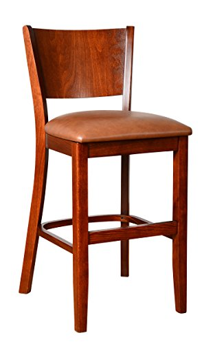 Beechwood Mountain BSD-86B24-MO Solid Beech Wood Counter Stool in Medium Oak for Kitchen and dining