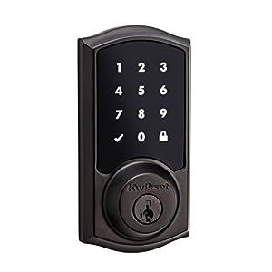 Kwikset 99150-003 SmartCode 915 Touchscreen Electronic UL Deadbolt with Smart Key, Venetian Bronze