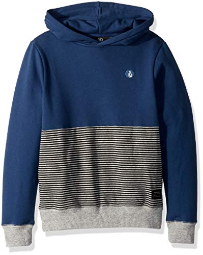 Volcom Boys' Big Single Stone Sub Division Pullover Hooded Sweatshirt, LTWT Vintage, Medium