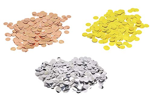 (Penta Angel Silver/Gold/Rose Gold Glitter Confetti Dots Circles Metallic Foil Round Filled Balloon Confetti Table Scatter Centerpieces for Crafts Birthday Weeding Party Baby Shower Decoration, 60g)