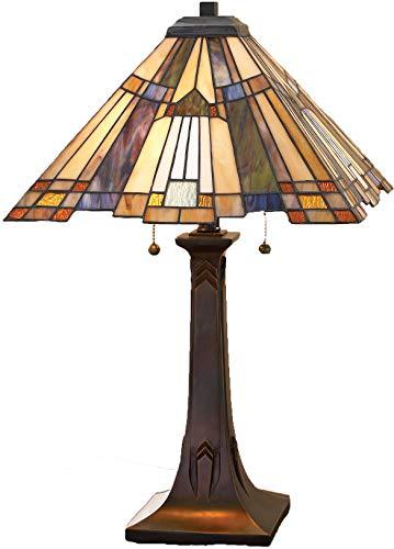 "Quoizel TFT16191A1VA Inglenook Tiffany Table Lamp, 2-Light, 150 Watts, Valiant Bronze (25"" H x 16"" W) from Quoizel"