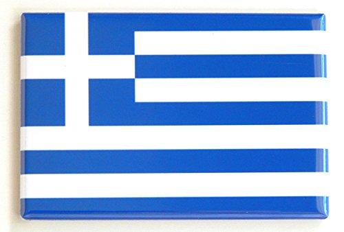 Flag of Greece Fridge Magnet (2 x 3 inches) (Greek Flag Magnet)
