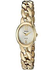 Seiko Womens Quartz Stainless Steel Casual Watch, Color:Gold-Toned (Model: SUP338)