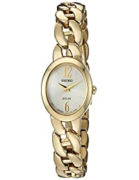 Seiko Women's Quartz Stainless Steel Casual Watch, Color:Gold-Toned (Model: SUP338)
