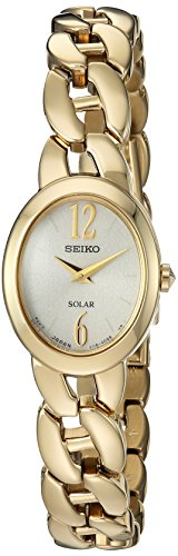 Seiko Women's Quartz Stainless Steel Casual Watch, Color:Gold-Toned (Model: SUP338) (Gold Stainless Seiko Steel Watch Toned Womens)