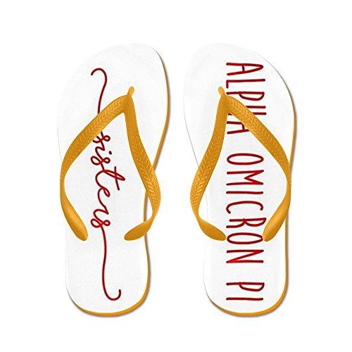 Cafepress Alpha Omicron Pi Sisters - Infradito, Sandali Infradito Divertenti, Sandali Da Spiaggia Arancione