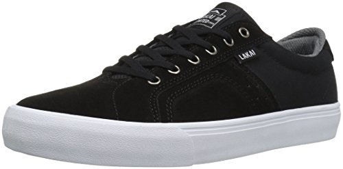 LAKAI Skateboard Shoes PEREZ FLACO BLACK/GREY SUEDE
