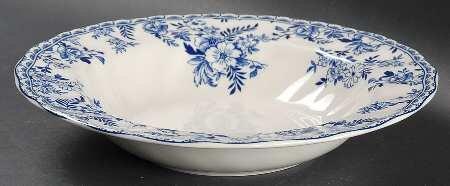 Bowl Round Devon (Johnson Brothers Devon Cottage Rim Soup Bowl, Fine China Dinnerware)
