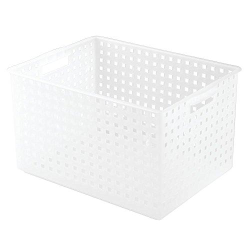 InterDesign Modulon X8 Storage Basket, Frost (Room Tray Stackable Service)