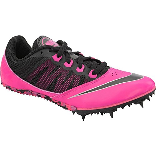 Nike Women's Zoom Rival S 7 Track Field Spikes, Black/Pink