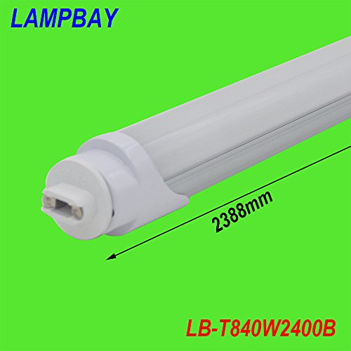 LAMPBAY® (10 pieces/lot) Free Shipping led tube bar F96 8ft 40W R17D HO base replace to fluoresent lamp (cold white clear cover)