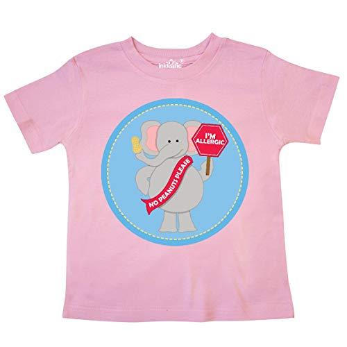 inktastic - Peanut Allergy Elephant Toddler T-Shirt 5/6 Pink ()