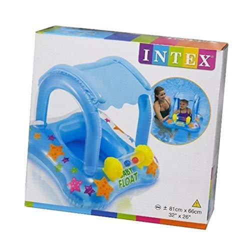 Baby Bote Inflavel Kiddie Com Cobertura Azul - Intex