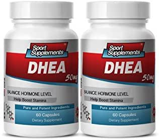Anti-Aging Vitamins - DHEA 50MG - Wellness - 2 Bottles (120 Capsules)